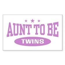 Aunt To Be Twins Rectangle Decal