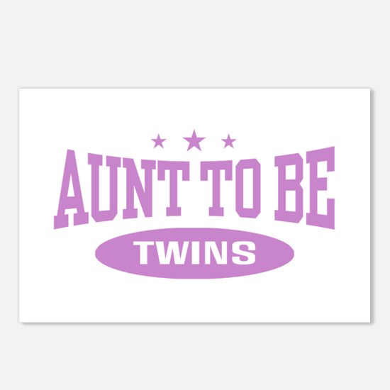 Aunt To Be Twins Postcards (Package of 8)