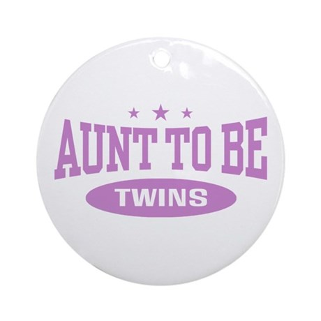 Aunt To Be Twins Ornament (Round)