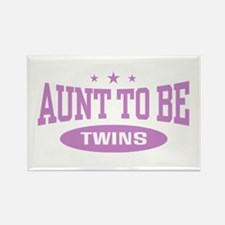 Aunt To Be Twins Rectangle Magnet