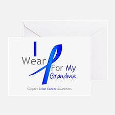 Colon Cancer Grandma Greeting Card