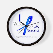 Colon Cancer Grandma Wall Clock