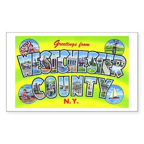 Westchester County New York Rectangle Sticker