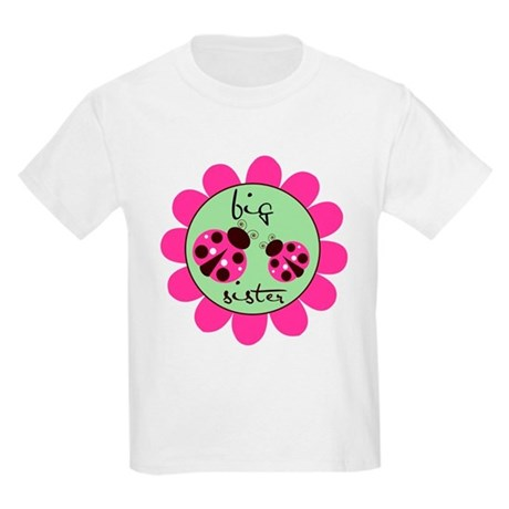 Big Sister Lady Bug Kids Light T-Shirt