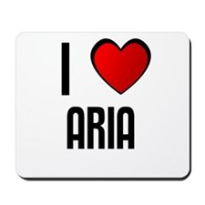 I LOVE ARELY Mousepad