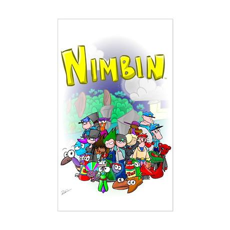 Nimbin Rectangle Sticker