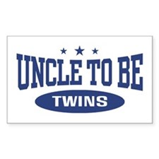 Uncle To Be Twins Rectangle Decal