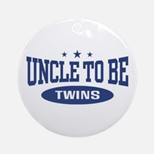 Uncle To Be Twins Ornament (Round)