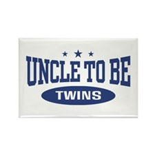 Uncle To Be Twins Rectangle Magnet