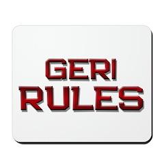 geri rules Mousepad
