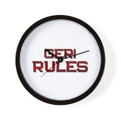 geri rules Wall Clock