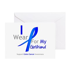 Colon Cancer Girlfriend Greeting Card