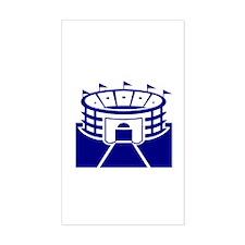 Blue Sports Stadium Rectangle Decal