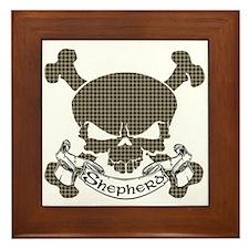 Shepherd Tartan Skull Framed Tile