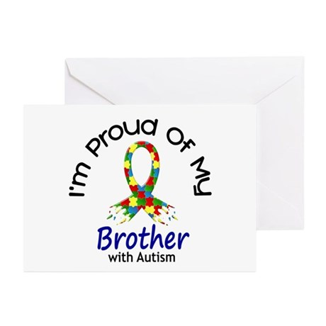 Proud Of My Autistic Brother 1 Greeting Cards (Pk