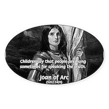 Heroine / Saint Joan of Arc Oval Decal