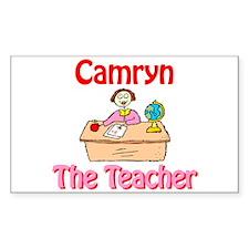 Camryn the Teacher Rectangle Decal