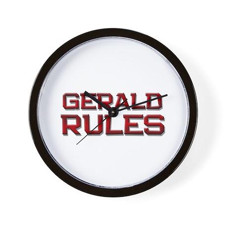 gerald rules Wall Clock