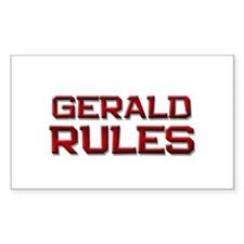 gerald rules Rectangle Decal