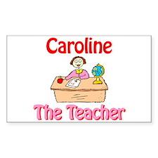 Caroline the Teacher Rectangle Decal
