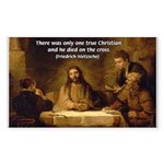 Christianity: Truth / Myth Rectangle Sticker