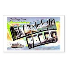 Niagara Falls Greetings Rectangle Bumper Stickers