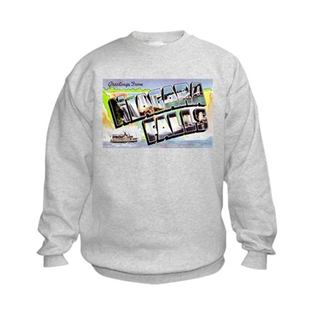 Niagara Falls Greetings (Front) Kids Sweatshirt
