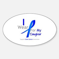 Colon Cancer Daughter Oval Decal