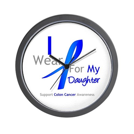Colon Cancer Daughter Wall Clock