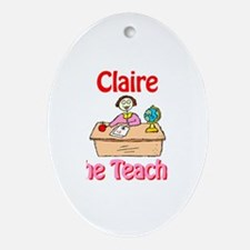 Claire the Teacher Oval Ornament
