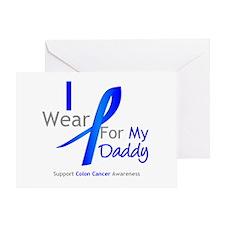 Colon Cancer Daddy Greeting Card