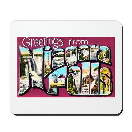 Niagara Falls Greetings Mousepad