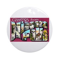 Niagara Falls Greetings Ornament (Round)
