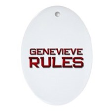 genevieve rules Oval Ornament
