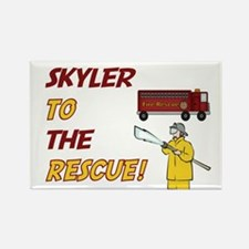 Skyler to the Rescue Rectangle Magnet
