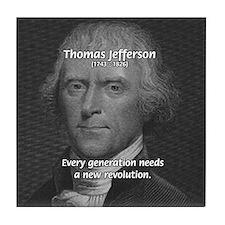 Revolution Thomas Jefferson Tile Coaster