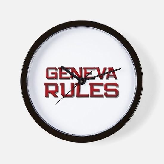 geneva rules Wall Clock
