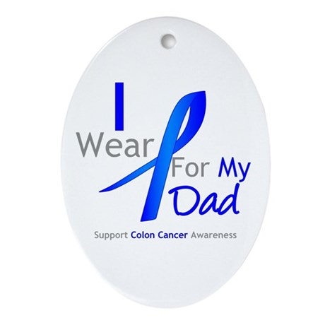 Colon Cancer Dad Oval Ornament