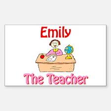 Emily the Teacher Rectangle Decal