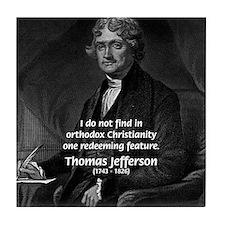President Thomas Jefferson Tile Coaster