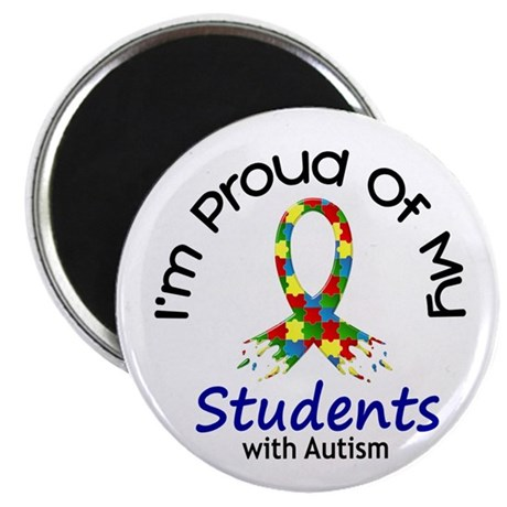 """Proud Of My Autistic Students 1 2.25"""" Magnet (10 p"""
