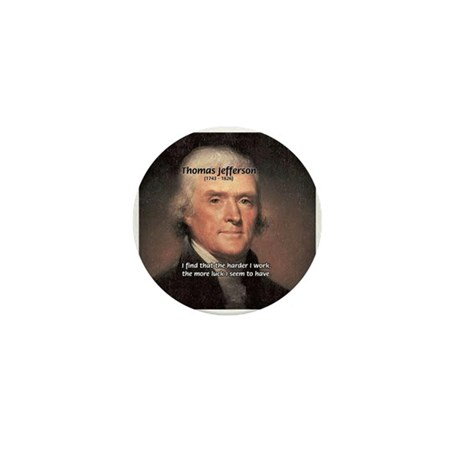 Work and Luck Jefferson Mini Button (100 pack)
