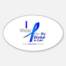 Colon Cancer BrotherInLaw Oval Decal