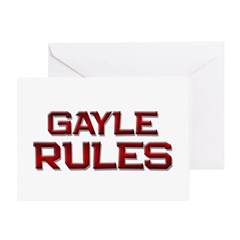 gayle rules Greeting Card