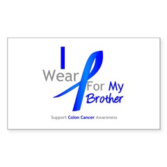 Colon Cancer Brother Rectangle Sticker 10 pk)