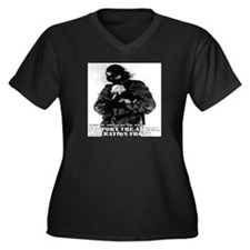 Cute Mcdonalds Women's Plus Size V-Neck Dark T-Shirt