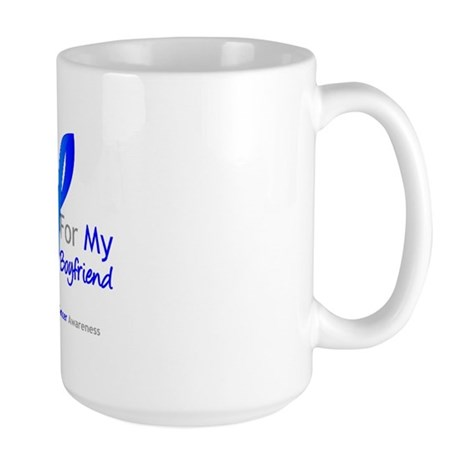 Colon Cancer Boyfriend Large Mug