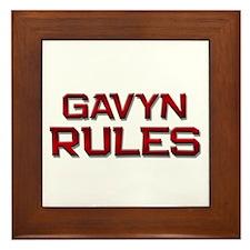 gavyn rules Framed Tile