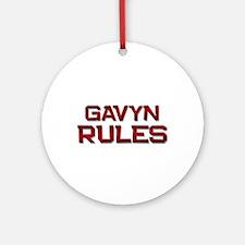 gavyn rules Ornament (Round)