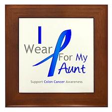 Colon Cancer Aunt Framed Tile